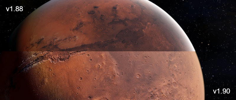 Mars custom planet with normal map