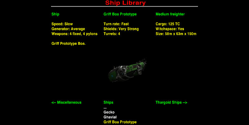 Ship Library turrets count