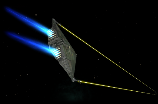 Dual laser Krait (screenshot by Diziet Sma)